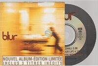 BLUR 1997 3 inédits CD PROMO card sleeve 5000 ex france / french pressing only