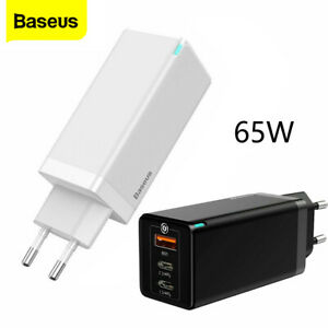 Baseus 65W Charger Power For Macbook Pro Iphone Samsung GaN QC 4.0 Tablet Laptop