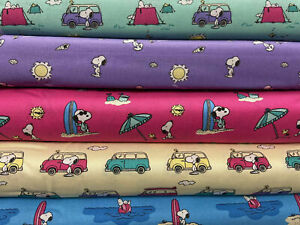 Schulz Peanuts Snoopy & Woodstock's Adventure 100% Cotton Fabric by 1/4 M* Sun