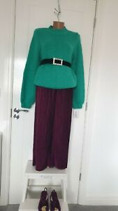 Wool Blend Sweater Jumper With Voluminous Sleeves Size 12