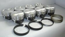 Speed Pro Chevy 350 Hypereutectic Flat Top 2VR Pistons+MOLY Rings 9.7:1 +.030""