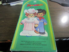 THE ORIGINAL MONCHHICHI - PAPER DOLLS AND 20 PC WARDROPE - GOLDEN  - VERY GOOD