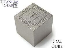 Titanium Cube 5 Ounce Ti Element #22 Fine Bullion .999 Ingot Bar Made in USA