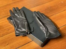 RAPHA Black Leather Town Gloves in Women's S Small - Made in the UK - NEW in Box