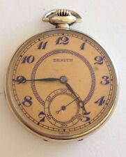 Zenith 12 Size 17 Jewel adjusted Open Face Swiss  Made  Pocket Watch