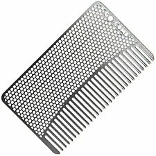 NEW Go Comb  Wallet Comb  Sleek Durable Stainless Steel Hair + Beard Comb