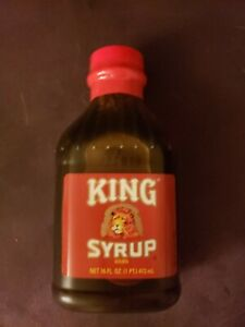 King Syrup Golden 16 oz. Bottle, New, Sealed VERY Hard-to-Find