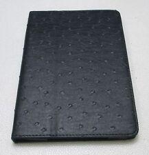 Black Leather Portfolio Case Cover for iPad mini