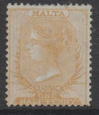 Malta - 1863, 1/2d Pale Buff - No Wmk - Perf 14 - M/M - SG 3 or 3a (cat. £850)