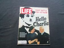 1972 APRIL 21 LIFE MAGAZINE - CHARLIE CHAPLIN AND WIFE - L 1850