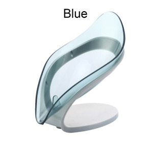 Leaf Shape Soap Holder Box Bathroom Shower Water Draining Non-Slip  Dish Rack