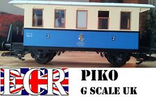 PIKO G SCALE CARRIAGE GARDEN LGB BACHMANN COMPATIBLE COACH ELECTRIC TRAIN SET
