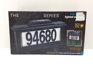 The Black Series Solar Powered Lighted Address Plaque 52 Pieces