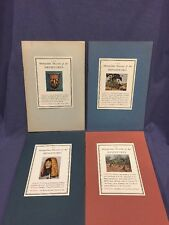 Metropolitan Museum of Art miniatures books O, T, W and V,  with Stamps