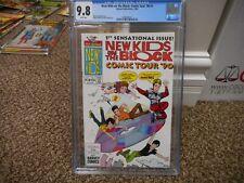 New Kids on the Block Comic Tour 1990 1 cgc 9.8 Harvey MINT WHITE pgs CD record