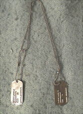 WW2 US Army Pair Dog Tags and Chains US51420503 Connecticut