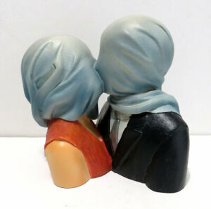 Rene Magritte Lovers with Covered Heads 1928 Resin Sculpture lg