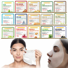 7pcs Korean Facial Skin Care Mask Sheet Moisture Essence Face Pack