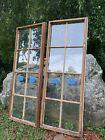 2 Antique Vintage 8 panes Casement Window sash 18-1/2 x 51 from 1928
