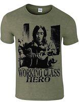 John Lennon working class hero tribute men`s t shirt music song,more colours