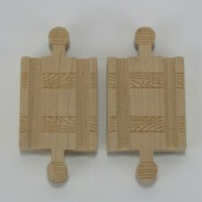 MALE ADAPTERS - GENUINE THOMAS & FRIENDS WOODEN TRAIN TRACK - LOT OF 2