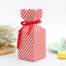 50Pcs Christmas Gift Box Candy Boxes Ribbon Wedding Party Favor Paper Package US