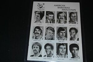 1975-76 Denver Nuggets Team Issued 8x10 ABA Photo-EX- w/Issel, Thompson