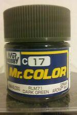 "Gunze Sangyo ""Mr Color"" acrylic paint C-17 RLM 71 Dark green 10ml"