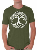 Tree of Life T Shirt for Men Shirts Christian Gift Tracery Tree Men's T Shirts