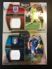 (2) 2016-17 Panini Select Soccer Joe Hart Graziano Pelle Memorabilia Lot
