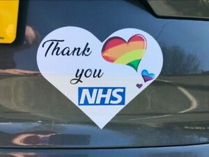 Rainbow Heart Thank You NHS Key Workers Sticker 35% Donated to NHS COVID Virus