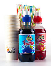 Snow Cone Kit complete ice slush kit includes 2x330ml concentrated flavours Cone