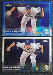 Craig Kimbrel 2015 Topps SN94/150 Blue Refractor Parallel +Base San Diego Padres