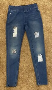 Justice Girls Jeggings Mid Rise With Flip Sequin Patches Size 14