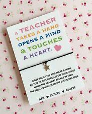 Teacher Wish Bracelet, Teacher Wish String! UK Seller! Fast Del BUY 5 GET 1 FREE