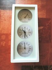 Station météo NEUF, thermomètre, hygromètre , horloge quartz avec alarme