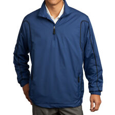(L) NIKE GOLF NWT Mens Pullover Track Jacket Mesh Dri Fit 393870 1/2-Zip Wind LG