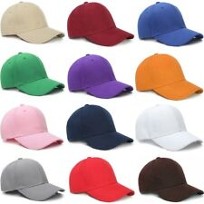 Wholesale Unisex Plain Baseball Cap Solid Color Hat Adjustable Wool Hook & Loop