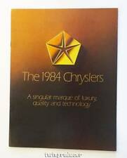 NOS 1984 Chrysler Full Line Color Car Automobile Brochure in MINT Condition