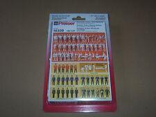 Preiser 16339 H0,  unbemalte Figuren, Feuerwehr, Polizei, Rettungsdienst