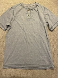 Arizona Jean Co. Boy's Gray Shirt Size XL (18-20) Cotton Blend Short Sleeve