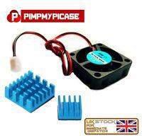 5V Cooling Fan for Raspberry Pi 2 3 Model B  A  B+  (  2 x Blue Heatsink )
