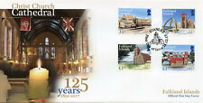 Falkland Islands 2017 FDC Christ Church Cathedral 125 4v Cover Churches Stamps