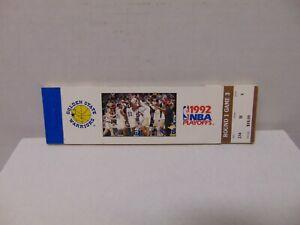 1992 NBA Golden State Warriors Playoffs unused ticket stubs booklet Pippen