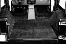 1987-1995 Jeep Wrangler YJ Five Piece Cut-out Carpet Kit in Black