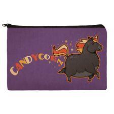 Candycorn Candy Corn Unicorn Halloween Pencil Pen Organizer Zipper Pouch Case