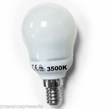 3 LOW ENERGY SAVING GOLF LAMP LIGHT BULBS SES E14 SMALL EDISON SCREW COOL WHITE