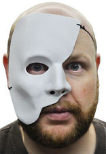 PHANTOM OF THE OPERA HALF WHITE MASK MARDI GRAS ADULT MASQUERADE MEN FACE MASKS