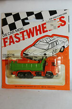 1970's Playart Fast Wheels, Leyland Dump Truck, Green & Orange,  New on Card