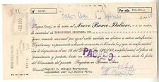 ARGENTINA PROMISSORY NOTE / PAGARE NUEVO BANCO ITALIANO DATED SEPTEMBER 1968